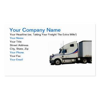 Cartão de visita da indústria de transporte por ca