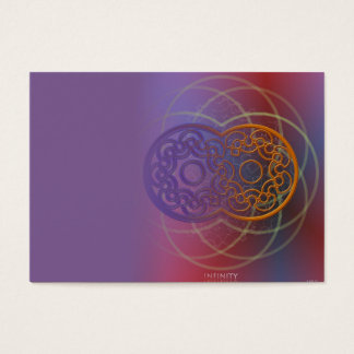 Cartão de visita da infinidade para curandeiros