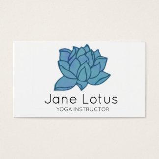 Cartão de visita da ioga de Lotus