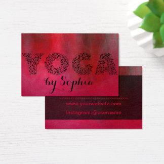 Cartão de visita da ioga do vermelho carmesim
