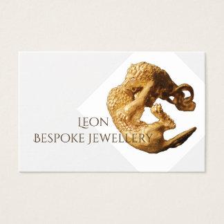 cartão de visita da jóia do ouro