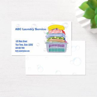 Cartão de visita da lavanderia
