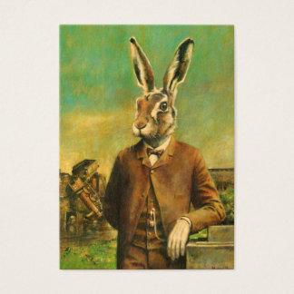 Cartão de visita da lebre ACEO do Victorian do