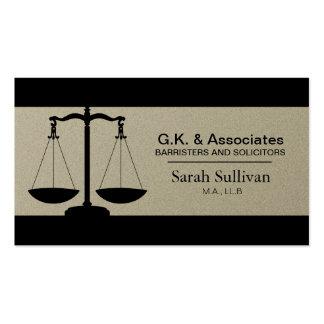Cartão de visita da lei - advogado simples do advo