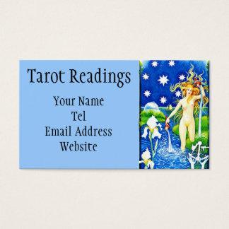 Cartão de visita da leitura de Tarot da estrela