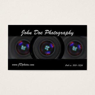 Cartão de visita da lente do fotógrafo
