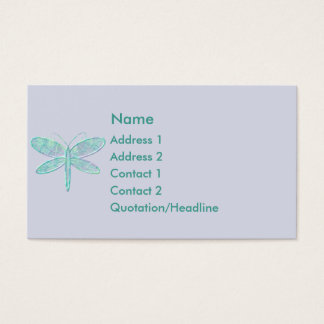 Cartão de visita da libélula do Aqua do KRW