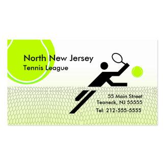 Cartão de visita da liga do tênis