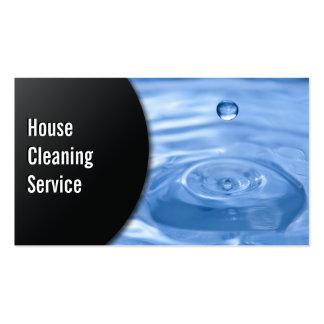 Cartão de visita da limpeza da casa da gota da águ