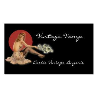 Cartão de visita da lingerie da forma do vintage