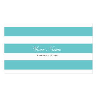 Cartão de visita da listra de azul-céu