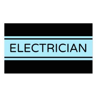 Cartão de visita da listra do eletricista