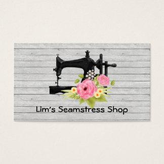 Cartão de visita da loja da costureira