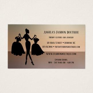 Cartão de visita da loja da forma das senhoras