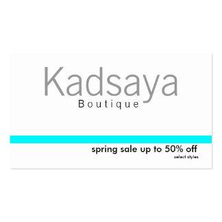 Cartão de visita da loja da promoção de Kadsaya 7