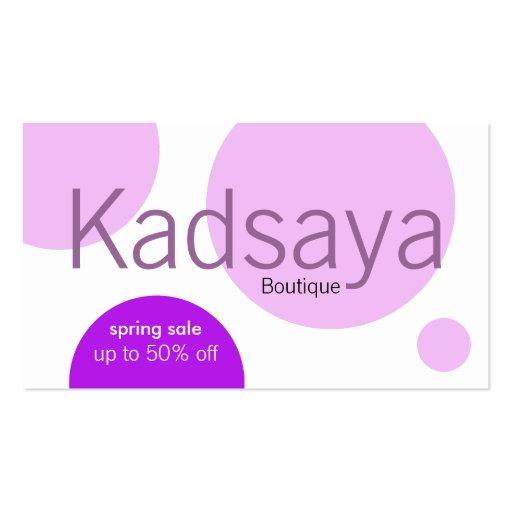 Cartão de visita da loja da promoção de Kadsaya 8