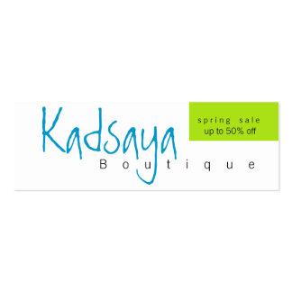 Cartão de visita da loja da promoção de Kadsaya 9