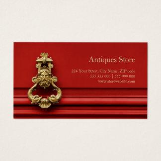 Cartão de visita da loja de antiguidades