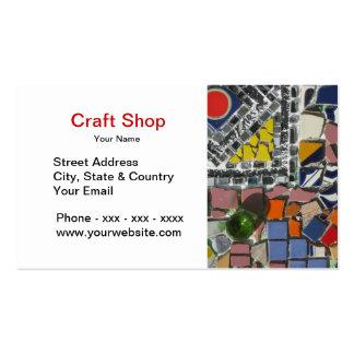 Cartão de visita da loja de artesanato