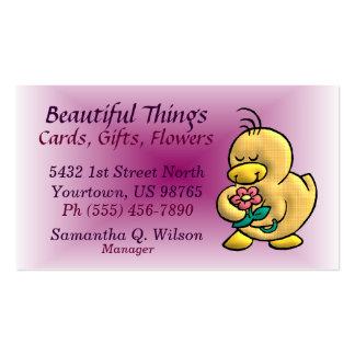 Cartão de visita da loja de lembranças ou do flori