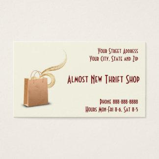 Cartão de visita da loja de mão de loja de