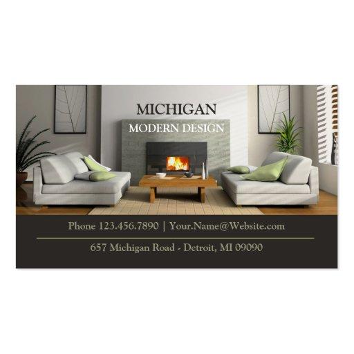 Cartão de visita da loja de móveis