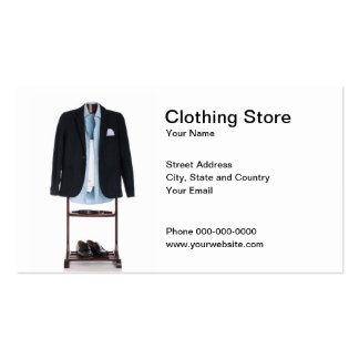 Cartão de visita da loja de roupa