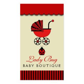 Cartão de visita da loja do bebê da loja dos bebês
