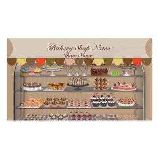 Cartão de visita da loja do biscoito da padaria