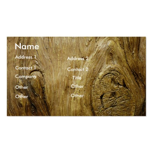 Cartão de visita da madeira da árvore