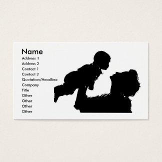 Cartão de visita da mãe e da criança
