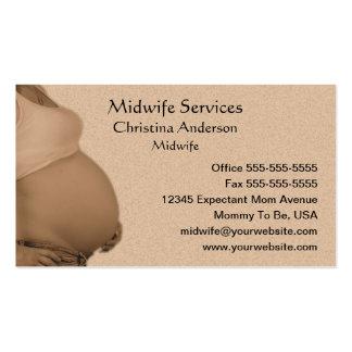 Cartão de visita da mãe expectante