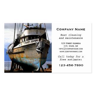 Cartão de visita da manutenção da limpeza do barco