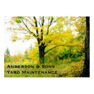 Cartão de visita da manutenção da paisagem