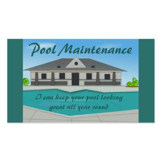 Cartão de visita da manutenção da piscina