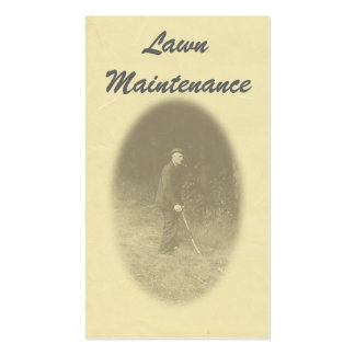 Cartão de visita da manutenção do gramado