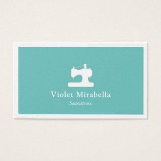 Cartão de visita da máquina de costura da