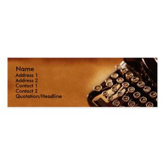 Cartão de visita da máquina de escrever