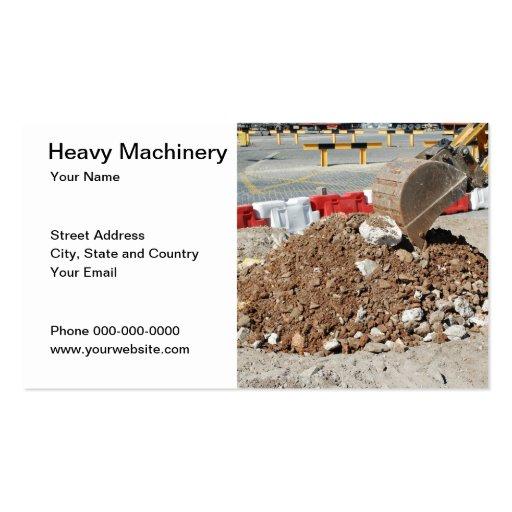Cartão de visita da maquinaria pesada