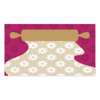cartão de visita da massa do pino do rolo do cozim