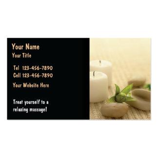 Cartão de visita da massagem