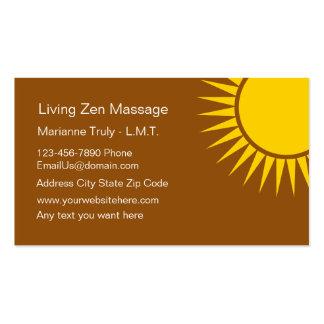Cartão de visita da massagem do zen