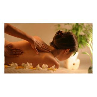 Cartão de visita da massagem dos termas
