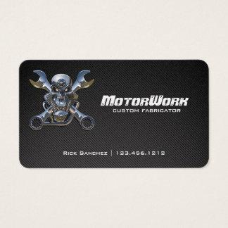 Cartão de visita da motocicleta da fibra do