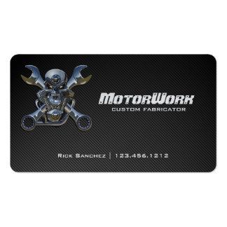 Cartão de visita da motocicleta da fibra do carbon