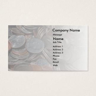 Cartão de visita da mudança do bolso