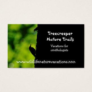 Cartão de visita da natureza e dos animais