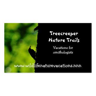 Cartão de visita da natureza e dos animais selvage