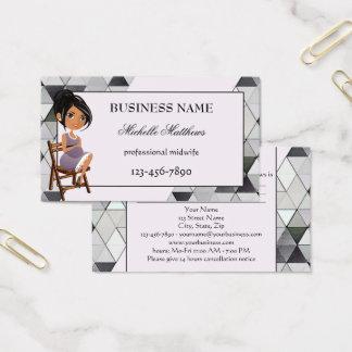 Cartão de visita da nomeação da parteira da