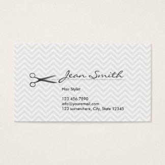 Cartão de visita da nomeação do cabeleireiro de